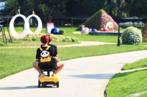 景区共享代步车 尽情体验观光乐趣